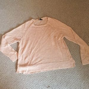 Eileen Fisher peach/nude sweater